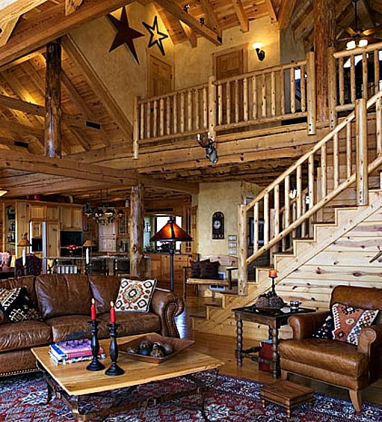 Luxury Log Home Interiors: 107 Best Images About Log Cabins On Pinterest