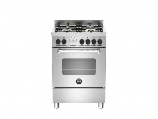 Bertazzoni Master 60 Single Oven Dual Fuel Stainless Steel Range Cooker MAS60-4-MFE-S-XE