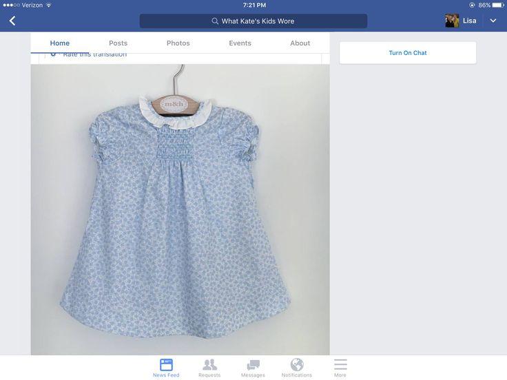 Little girl smocked dress