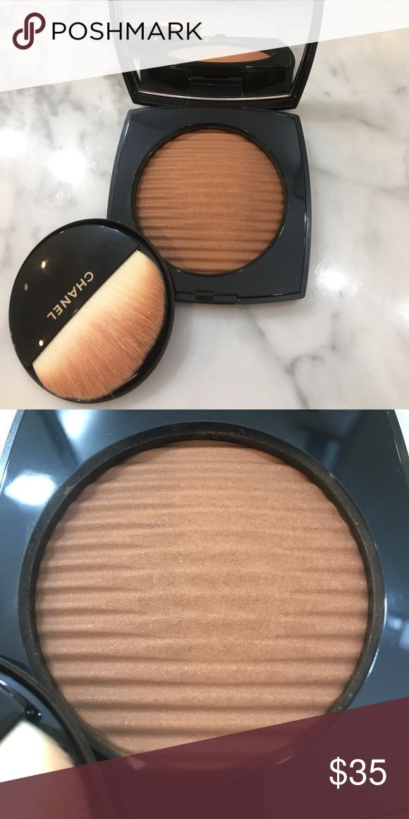 """Chanel Les Beiges Healthy Glow """"deep"""" Like new Makeup Bronzer"""
