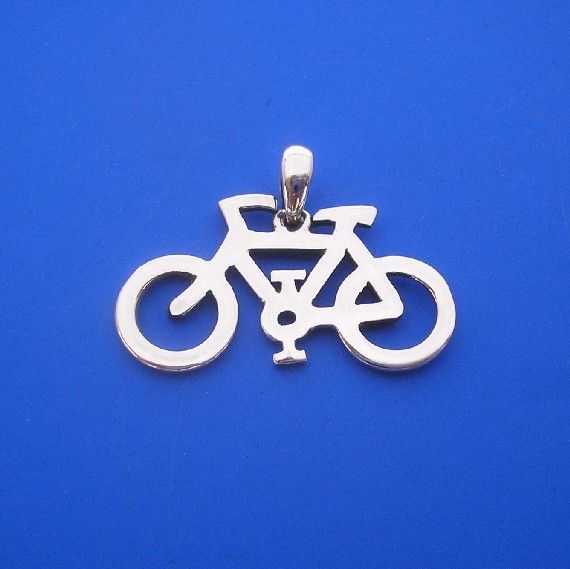 Silver Bicycle Pendant , Hand Made Solid Silver | ijewellery | madeit.com.au