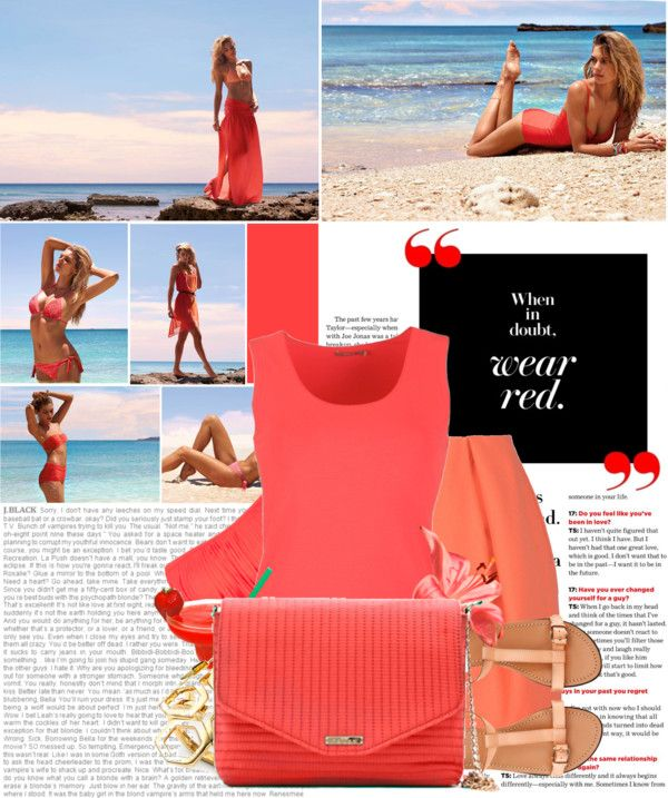 """when in doubt, wear red."" by dorc on Polyvore"