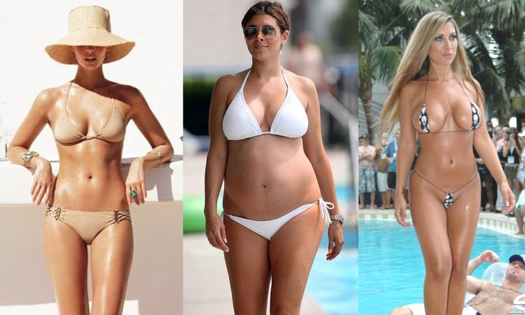 BIKINI TIPS: Th bikini should not be nude beige, you will look naked... The upper and lower parts should be proportional with each others, aways choose for the bigger part. If the bikini is a tiny little one , that is vulgar!