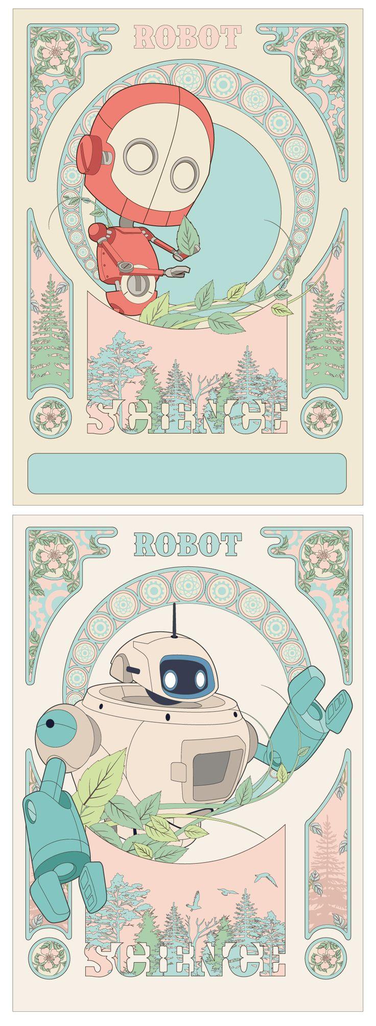 #science #illustration #robot #artnoueau