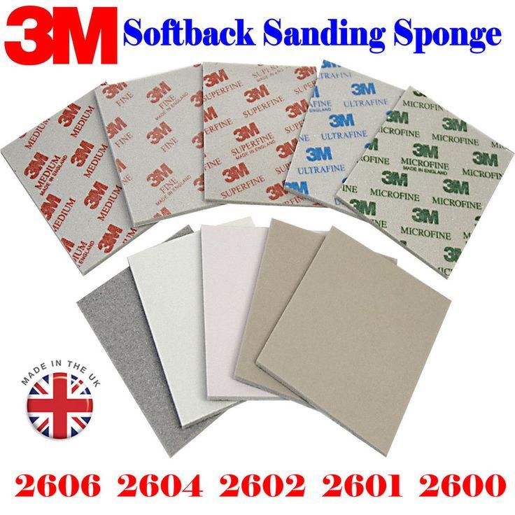 3M 02600 02601 02602 02606 Medium to Micro Fine. Abrasive Softback Sanding Sponge Grade Range:#12 0-#150 0. Depends on you choose for each order. | eBay!