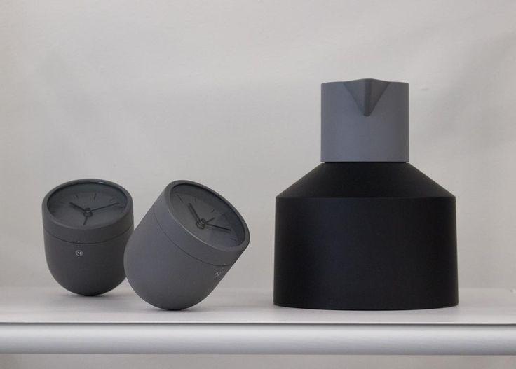 Geo thermo jug black, normann copenhagen and tumbler alarm clock, Menu world - Crioll Design shop Eindhoven, design, scandinavian design