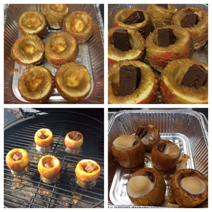 Dr. BBQ's recipe for Snickers-Stuffed Baked Apples on the Big Green Egg. These are a necessity for anyone who likes chocolate or dessert!