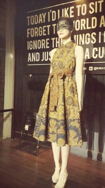 Dress batik sogan