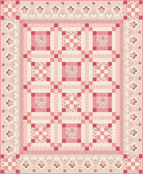 74 best Renee's Fabric Designs images on Pinterest | Fabric design ... : pink quilt - Adamdwight.com
