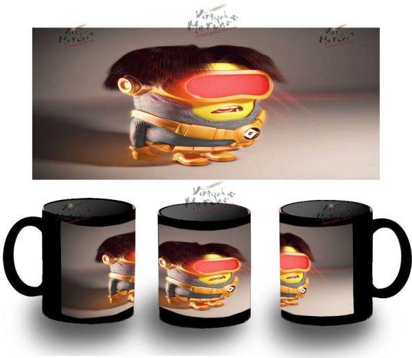 Taza Negra Minions Ciclope Cyclops X Men Minion Black Mug Tazza Tasse Coupe Gru - Bekiro