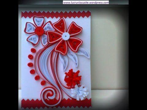 Felicitari quilling mici de primavara--Quilling cards small spring