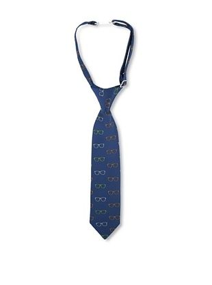 25% OFF Andy & Evan Boy's Glasses Tie (Blue)