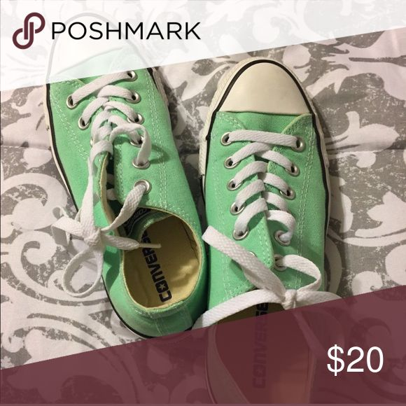 Mint converse Mint converse, only worn a handful of times Converse Shoes Sneakers
