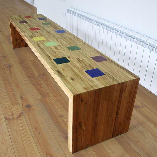 17 mejores ideas sobre bancos de madera en pinterest - Bancos de madera para interior ...