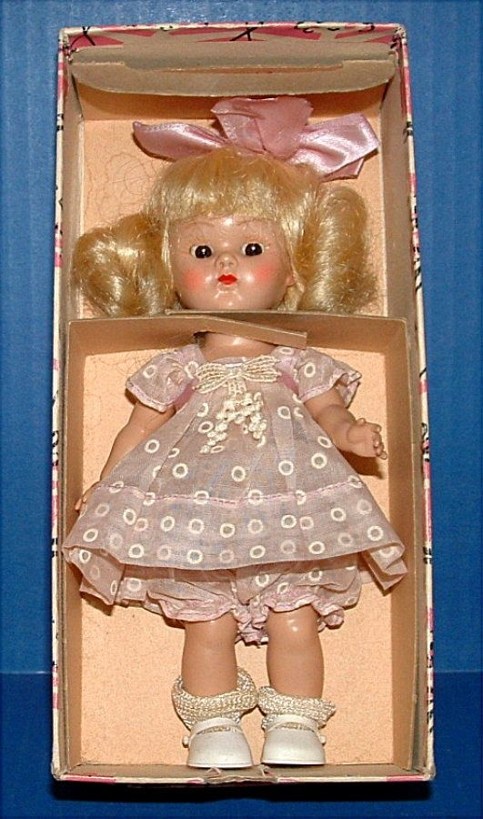 1950's Vogue Ginny Doll in Original Box-Kinder Crowd Outfit