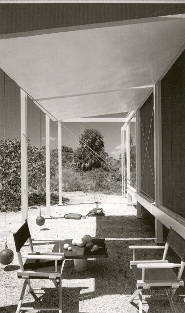 1952 - The Walter W. and Elaine Walker Guest House - designed by Paul Rudolph with Ralph Twitchell. Sanibel Island, Florida.