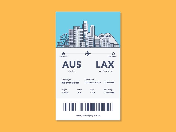 Dribbble Boarding Pass Ui by Sean Holstien