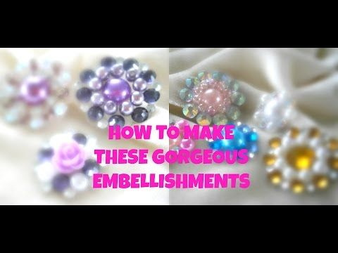 How I make My Flower Centers and Embellishment - YouTube