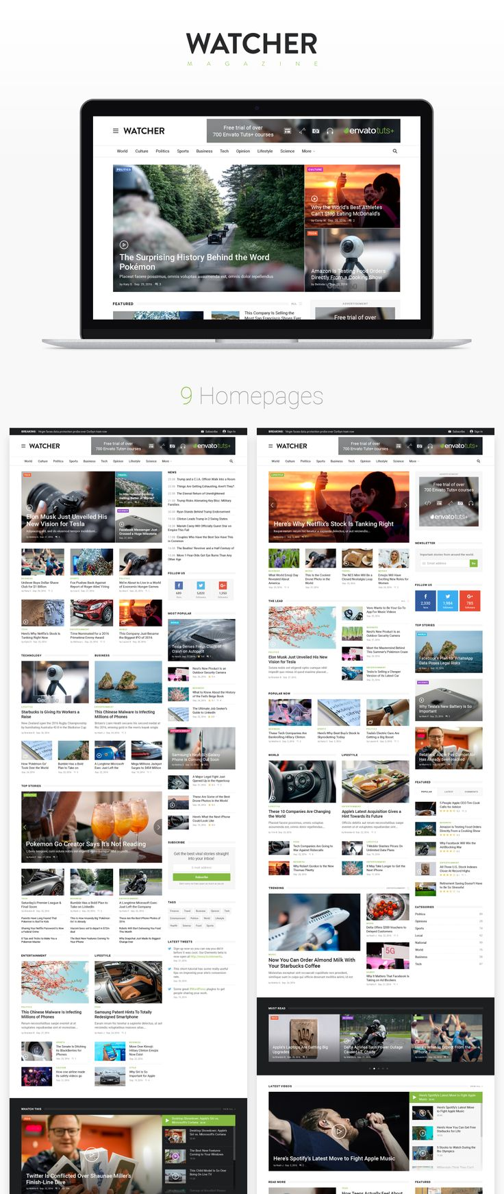 Perfect PSD template for your Magazine or blog project