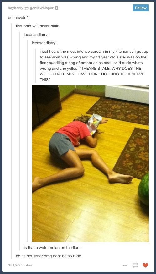 Stale chips: | 22 Tumblr Posts That Will Remind You Why Having Family Is The Best