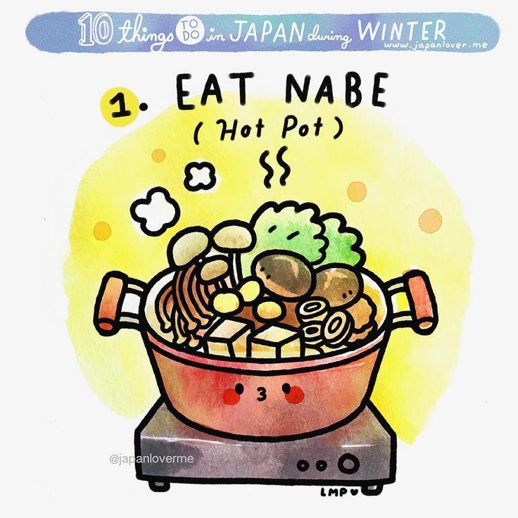 #ThingsToDoinJapaninWinter #1: Eat Nabe or Nabemono = Japanese hot pot! ❤️ It is a wintertime favorite! Art by @chichilittle #japanloverme #winter #nabemono