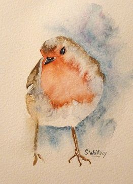 Sharon Whitley - The Rambling Artist: Painting Watercolour Christmas Cards