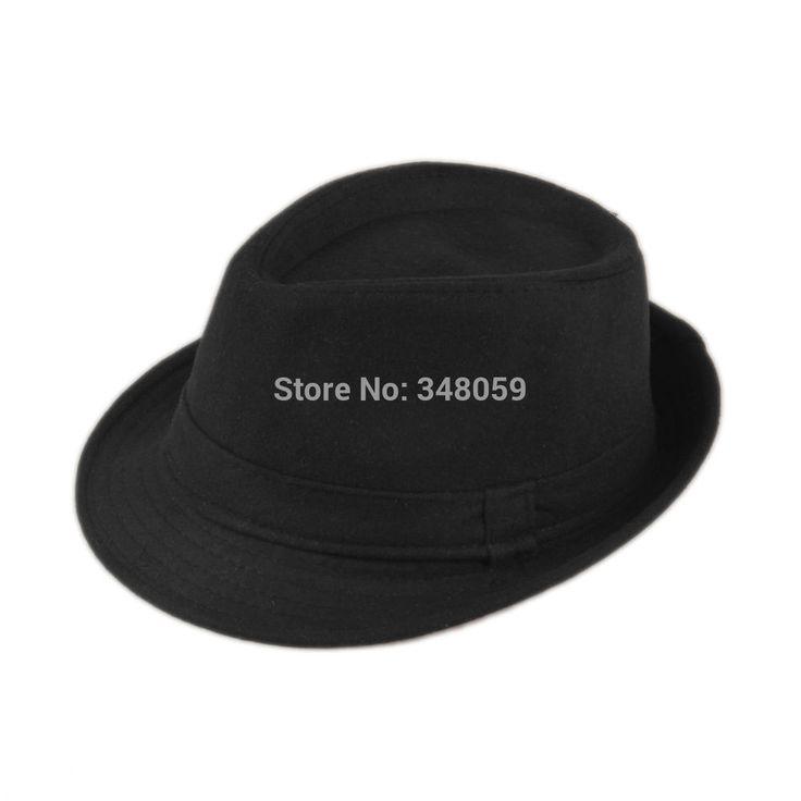 Free Shipping Unisex Cotton Wool Men Felt Hat Cap Upturn Chapeu gorro floppy Feodora hats Short Brim sun hat Black Ribbon Band #shoes, #jewelry, #women, #men, #hats, #watches