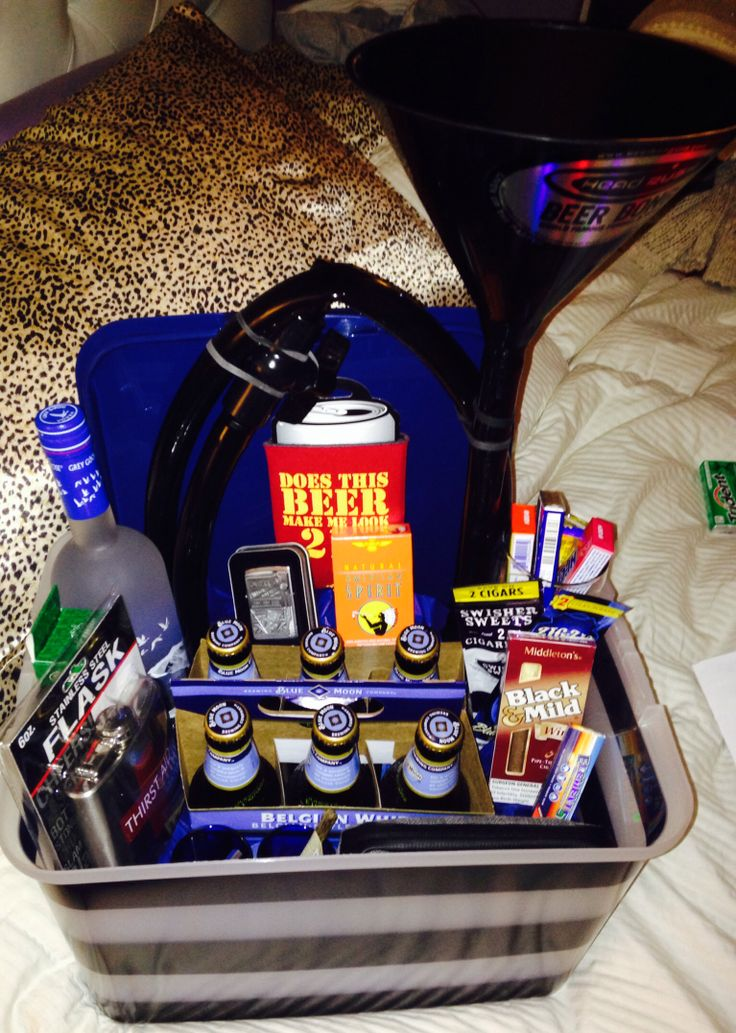 21st Birthday Gift Baskets For Him : Ideas about guy gift baskets on birthday