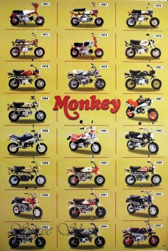 """J-1786 Honda Monkey Classic Motorcycle Poster#13 Size 24""""x35""""inch. Rare New - Image Print Phot null http://www.amazon.com/dp/B00C2MY9C4/ref=cm_sw_r_pi_dp_bF4dub1D1YGRB"""