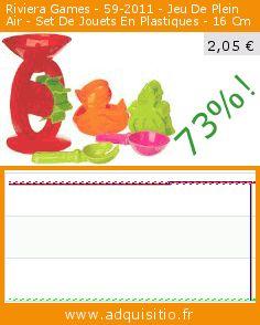 Riviera Games - 59-2011 - Jeu De Plein Air - Set De Jouets En Plastiques - 16 Cm (Jouet). Réduction de 73%! Prix actuel 2,05 €, l'ancien prix était de 7,53 €. https://www.adquisitio.fr/riviera-games/59-2011-jeu-plein-air-set