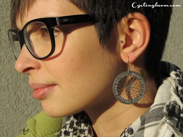 Earrings   Cycling boom products   Inspired by Bicycle wheels