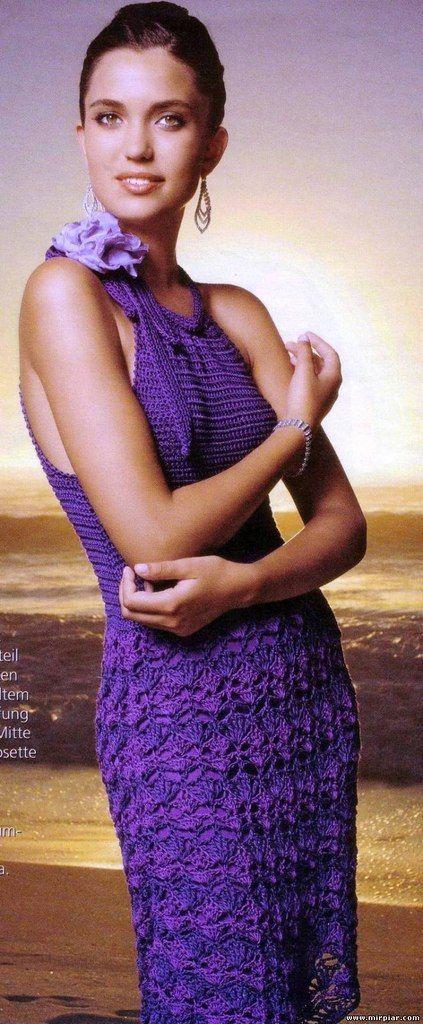 Фиолетовый сарафан крючком. Обсуждение на LiveInternet - Российский Сервис Онлайн-Дневников