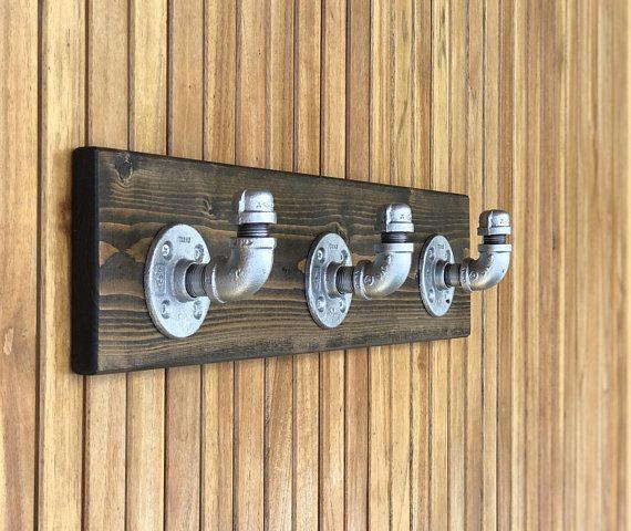 Espresso Wall Hooks Rustic Towel Hooks Industrial Coat Hooks