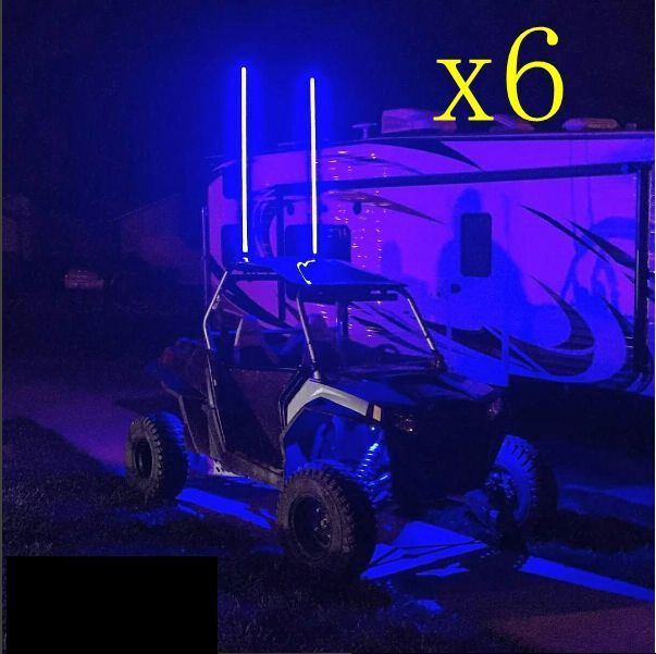 3 Pairs 1.5M 5fts RGB LED light whip SXS ATV UTV 4 wheeler RZR quick disconnect | eBay Motors, Parts & Accessories, ATV Parts | eBay!