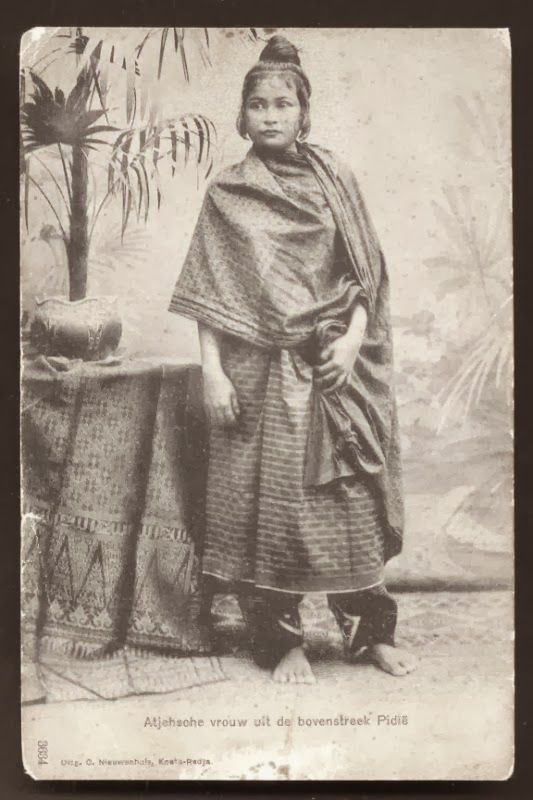 Acehnese. Young Woman from Pidie, Aceh ~ Sumatera ~ Indonesia ca 1899