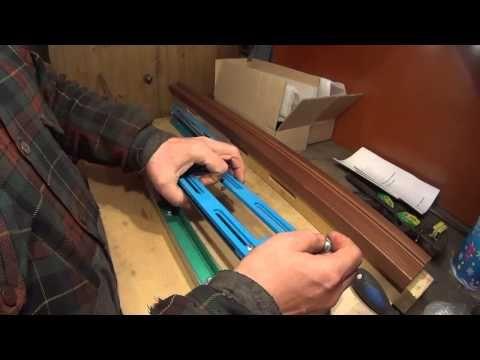 6.Как профессионально быстро и качественно врезать дверные петли и замки.Установочная рейка - YouTube