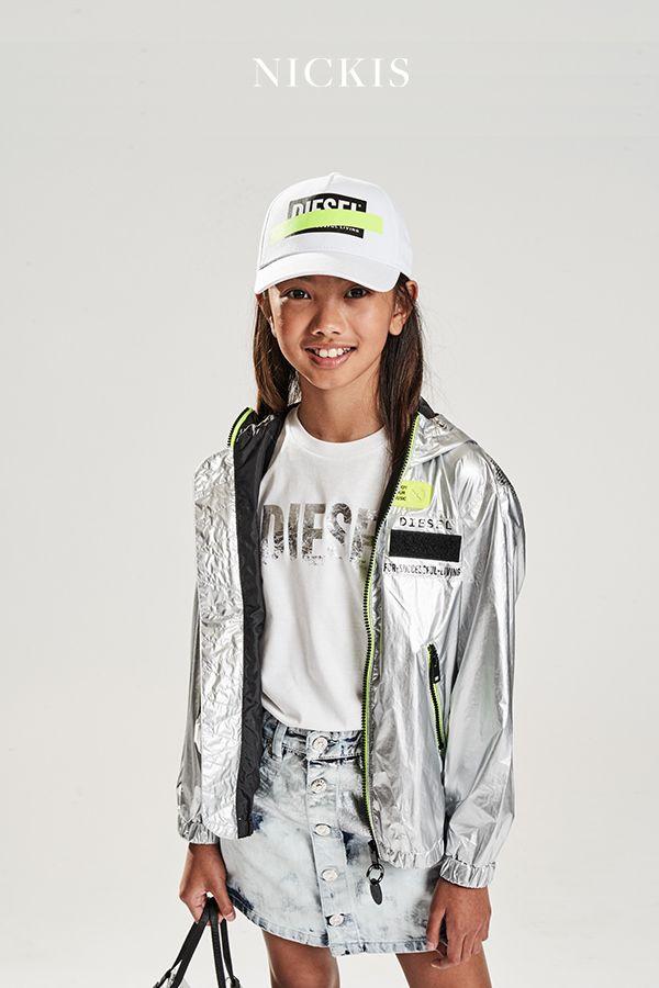Diesel Ubergangsjacke Jmatise Jacket Silber In 2020 Jacken Kindermode Kind Mode