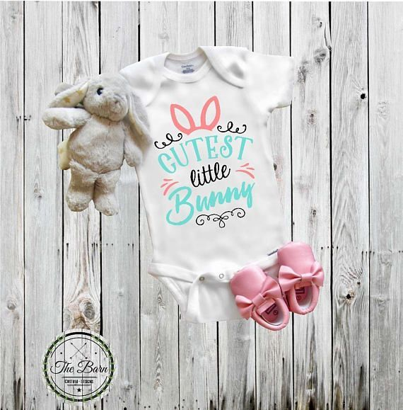 Baby\u2019s Easter Outfit My First Easter Onesie Easter Bunny Newborn Clothing Shower Gift Spring Baby Onesie