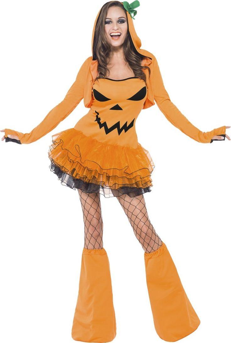 """Costume da zucca con tutù per donna -  Halloween: un travestimento """"frufru"""" per un Halloween spensierato e allegro in compagnia dei tuoi amici."""