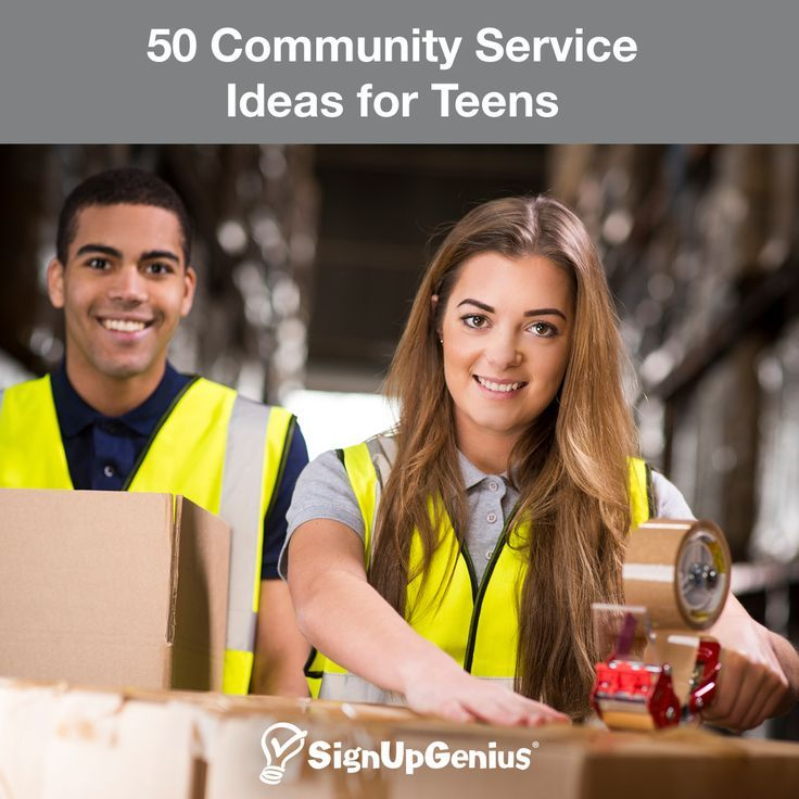 50 Community Service Ideas for Teen Volunteers. Make the most of summer or extra time by helping community organizations or starting your own charitable project.