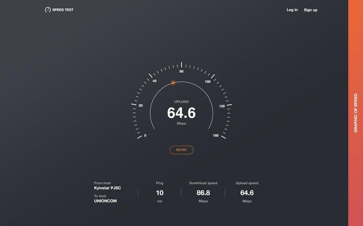 Speed Test UI Design