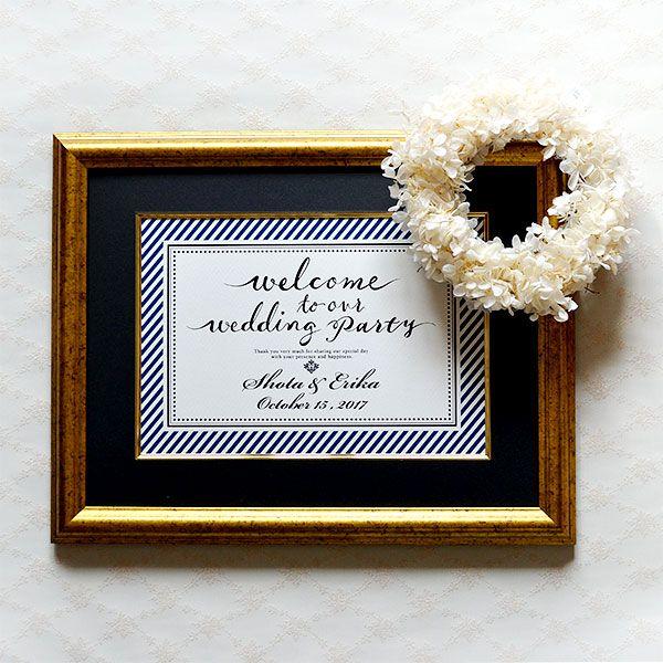 上品さと高級感があり大人っぽいウェルカムボード♡モダンな結婚式におすすめしたいネイビーのウェルカムボードまとめ一覧♪