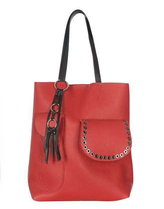 Torba skórzana Premium Tote Red lips   Leather tote bagRed lips