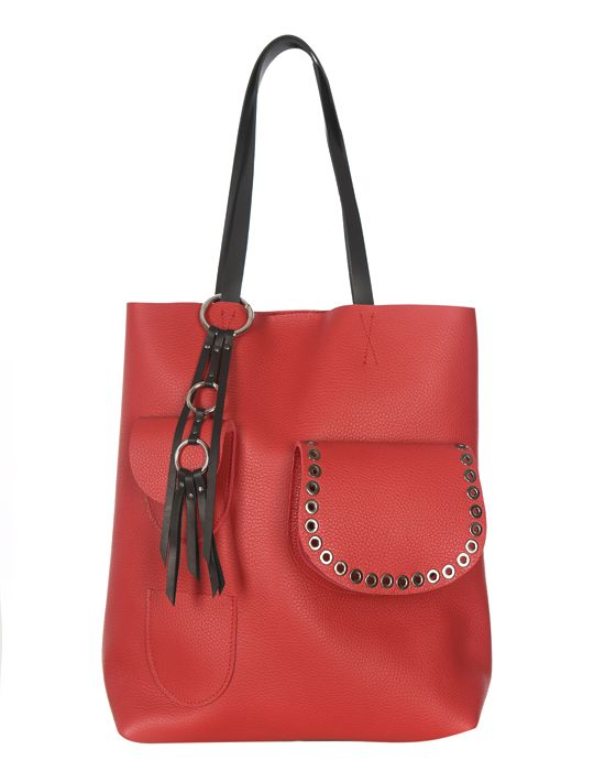 Torba skórzana Premium Tote Red lips | Leather tote bagRed lips