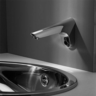 Modern Electronic Bathroom Faucet    I like how it comes out of the wall. 17 Best images about Fantastic Faucets  amp  Fixtures on Pinterest