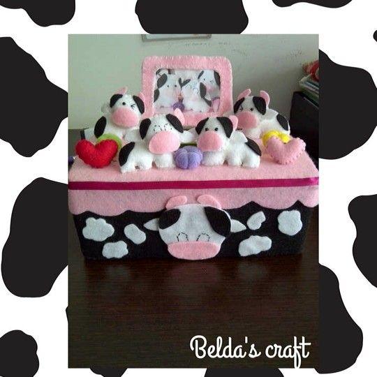 The cow tissue box
