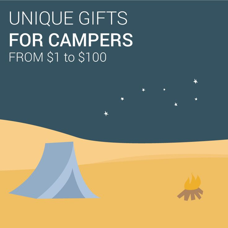 14 outdoor gifts ideas for the camping lover in your life.  Get inspired for gift giving this holiday season -- http://www.outdoorblueprint.com/read/unique-gifts-for-campers-from-1-to-100/