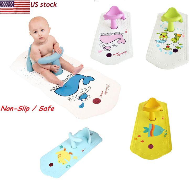 Baby Bath Tub Ring Seat FUN Keter Infant Anti Slip Chair Safety Heat Sensitive #UnbrandedGeneric