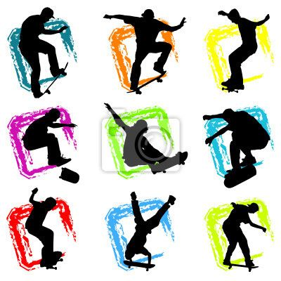 Wall Mural skateboard vector