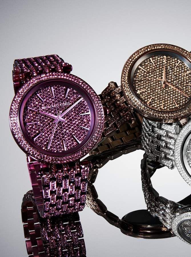 489999959d916 Michael Kors Darci Pave Plum-Tone Watch ad